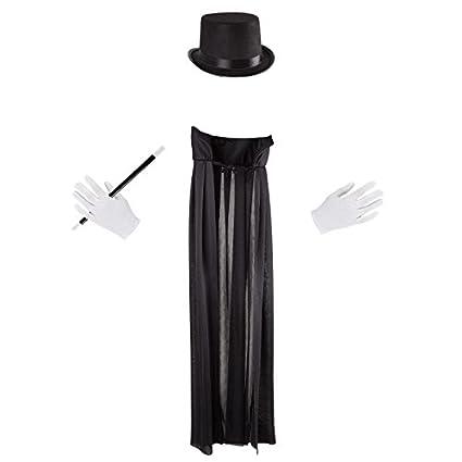 Amazon.com: Disfraz de magia para niños con capa, sombrero ...