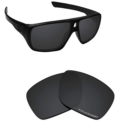 Alphax Stealth Black Optimized Polarized Engraved Replacement Lenses for Oakley Dispatch 1