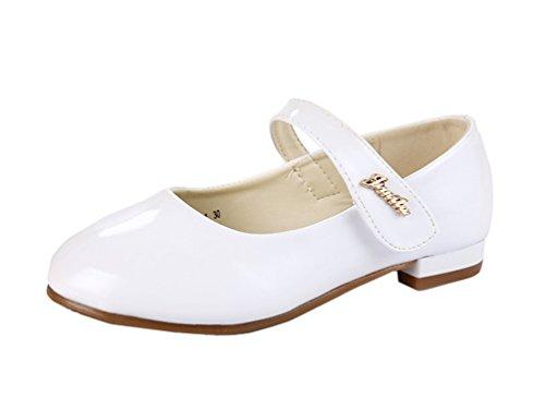 miaoshop Kleid Mary Jane Mädchen Hochzeit Prinzessin Schuhe Kinder Casual Comfort Schule Flat Weiß