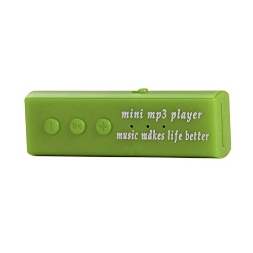 Juice Box Module (ZYooh Mini USB Clip Digital Mp3,Fashion Music Player Support 16GB SD TF Card Easy to Clip-on Green)