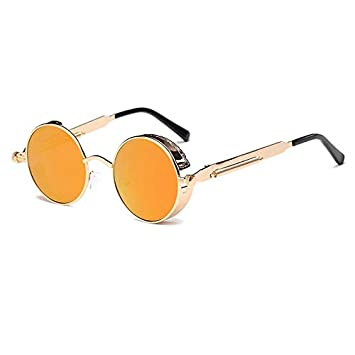 Metal Round Steampunk Sunglasses Men Women Fashion Glasses Brand Designer Retro