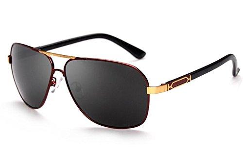 De Retro Caja Nuevo Box Conducción Hombres Sun Big Espejo Sapo Polarizadas Genuino Roja El glasses Sol Gafas vwBBqEZ4