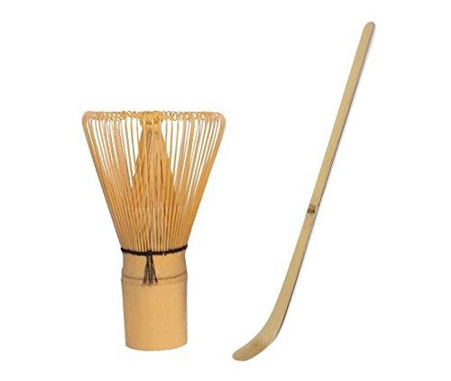 QHDZ Matcha de herramientas de té Matcha de cuchara de Bundle y té matcha de batidor Set