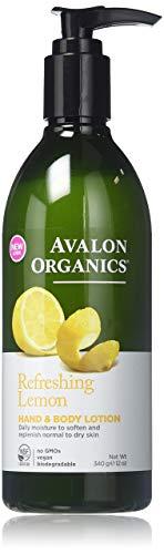 Avalon Organics Hand & Body Lotion, Lemon, 12 oz (2-Pack) - Hand Body Lotion Organics