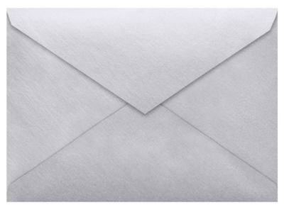 Lee BAR Envelopes (5 1/4 x 7 1/4) - Silver Metallic (250 Qty.) by Envelopes Store