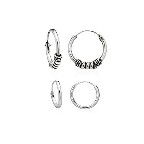 Sterling Silver Endless Earrings Tribal