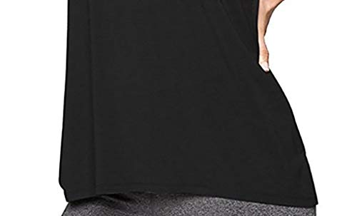 SuperUS Women Training Yoga Gym Waistcoat Blouses Running Jogger Sport Vest Tops Black by SuperUS (Image #1)