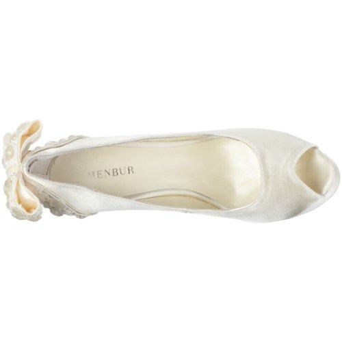 MENBUR Inma 04340 - Zapatos de novia de tela para mujer Marfil