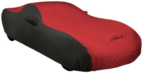 Coverking Custom Fit Car Cover for Select Chevrolet Truck C/K 150025003500 Models - Stormproof (Red with Black Sides)