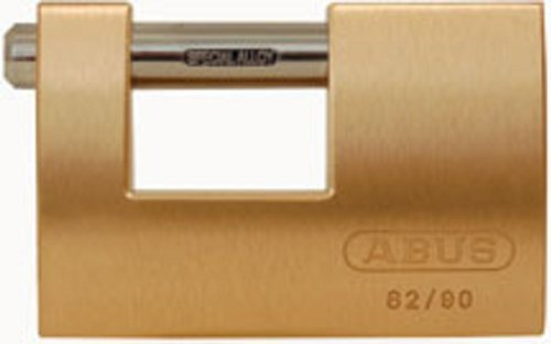 Monoblock Padlock - ABUS 82/90 KD B All Weather Solid Brass Body Monoblock Keyed Different Padlock by ABUS