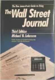 Amazon.com: The Dow Jones Irwin Guide to Using the Wall Street Journal (9781556232428): Michael ...