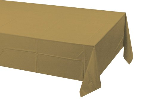 Creative Converting Paper Banquet Table Cover, Glittering Gold