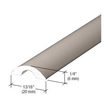 Crl Brushed Nickel Frameless Shower Door Half Round