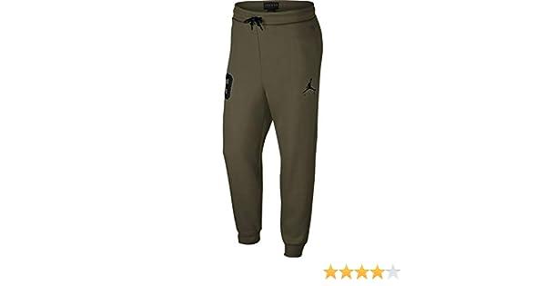 04d3a3816ee Jordan Nike Mens Air GFX Sweatpants Olive Canvas/Black AV2323-395 Size  Small at Amazon Men's Clothing store: