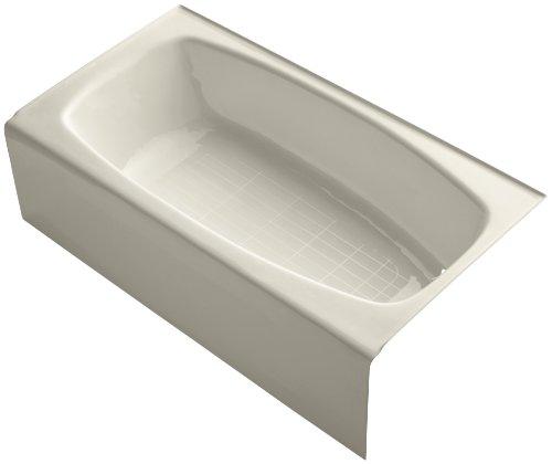 Kohler K-520-47 Dynametric 5Ft Bath with Right-Hand Drain, Almond (Dynametric 5' Bath Drain)