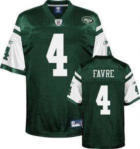 Brett Favre New York Jets Green Reebok Premier Jersey - Size 54 - (Reebok Nfl New York Jets)