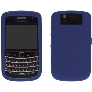 OEM Dark Blue Blackberry Silicone Rubber Gel Skin Case Cover for Tour 9630 and Bold 9650 - Blackberry Rubber Case