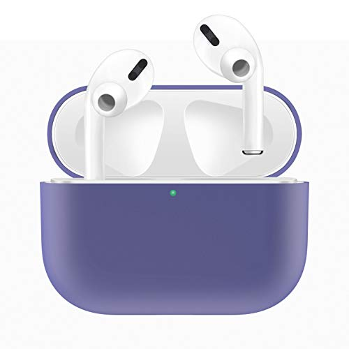 HATALKIN Case Compatible with Airpods Pro Case Premium Silicone Airpod Pro Case Protective Cover for Airpods Pro/Airpods 3 (Front LED Visible) (Wont Affect Wireless Charging) (Light-Purple)