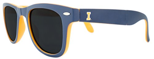 NCAA Illinois Fighting Illini Game Day Sunglasses with Microfiber Carrying Case/Pouch - Fully ()