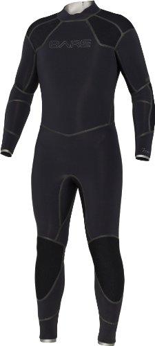 - Bare 7mm Elastek Full Suit Men's Wetsuit, Black- Large