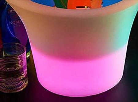 XBR Nuevo Cubo de Hielo Barril de champán Cubo de Hielo de Vino Cubo de Hielo Luminoso de Carga LED Cubo de Hielo de Vino Blanco con 2 ángulos Resistente a la caída