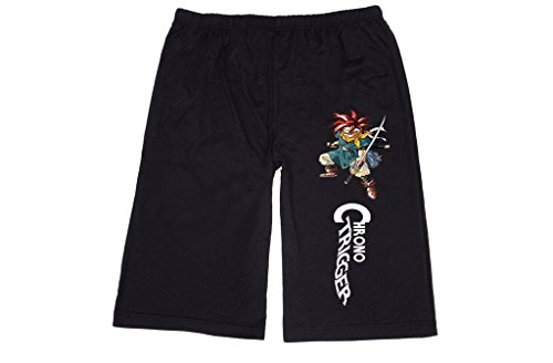 XJX Men's Chrono Trigger game art Lounge breeches Shorts Pants M Black