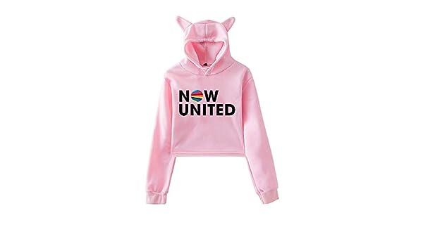 Better Album Cat Hoodie Mujeres Better Now United Lyrics Pullover Girl Kawaii Harajuku Tracksui Beige 2 XS WAWNI 2020 Now United