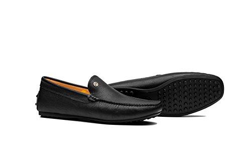 Homme pour Chaussure Suédine Bateau en de Noir Mocassins It8dqUwq