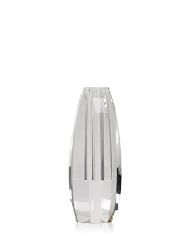White Finish Ribbed Glass - 5