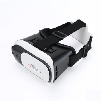 REMAX VR 3D Glasses Virtual Reality Movie Glasses Lens and Belt Adjustable Headset Glasses for 4.7-6 inch Phone (95-brille)