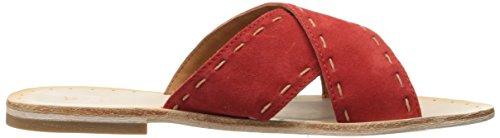 Frye Kvinners Avery Pickstitch Lysbilde Flat Sandal Red
