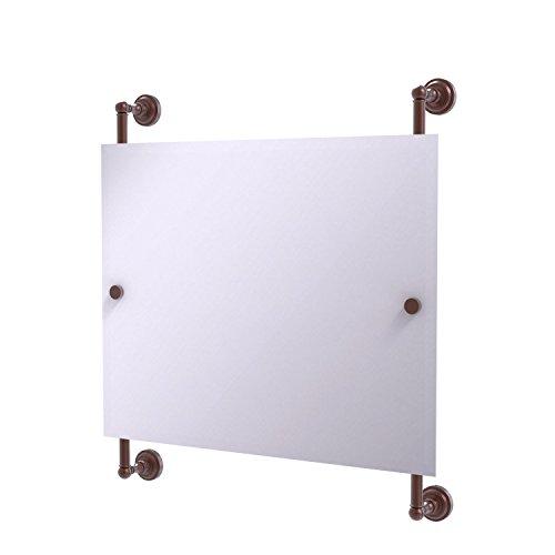 Landscape Beveled Dresser Mirror - Allied Brass DT-27-93-CA Dottingham Landscape Rectangular Frameless Rail Mounted Mirror