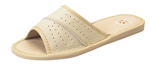 Womens Shoes Comfort Slippers House Leather Beige On Bosaco Slip OdPqwO0