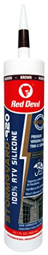 Red Devil 078040 StormGuard 920 100% RTV Silicone, 10.1 Oz., Brown