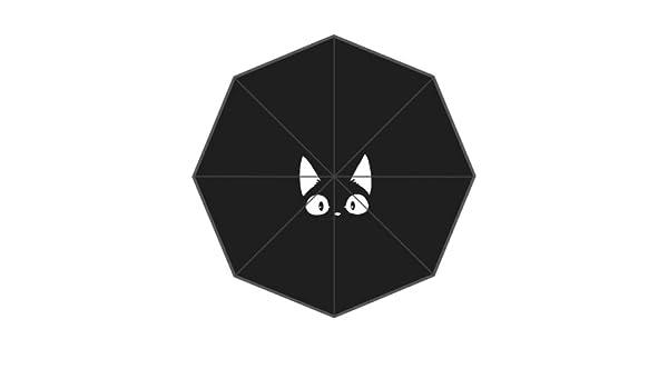 SunnyCloud Bonito paraguas plegable para gato o gato de Kawaii con diseño de dibujos animados: Amazon.es: Deportes y aire libre
