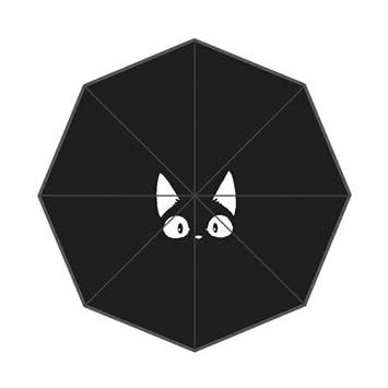 SunnyCloud Bonito paraguas plegable para gato o gato de Kawaii con diseño de dibujos animados