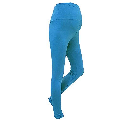 Caviglia Lunghezza Lago Maternity Molto Confortevole Cotone Full Leggings Bozevon Blu Modale 61aIqq