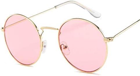 RJGOPL des lunettes de soleil Rbrare ronde oculos de sol feminino classique vintage oculos feminino océan rose spelho oculos de sol pour homem lunettes de soleil femmes Gold Pink