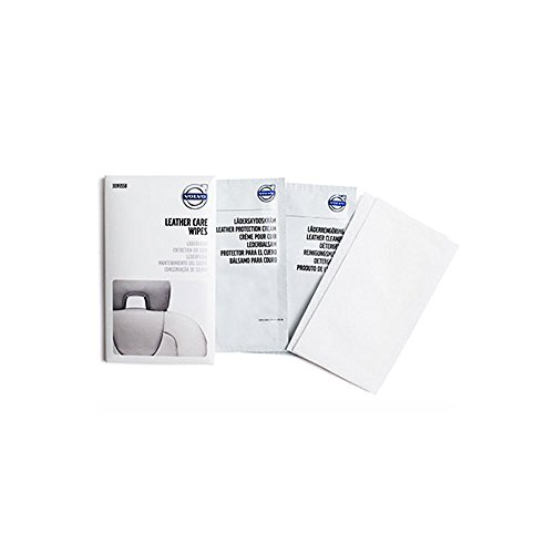 Genuine Volvo Leather Care Wipes Cleans and Conditions