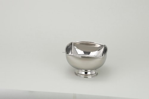 Elegance Heim Concept Silver Plated Square Bowl, 4.5 inches
