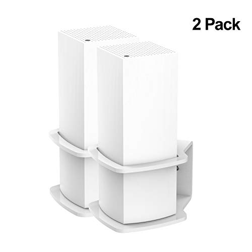 (Pack of 2) YCL Wall Mount Stand Holder Space-Saving for Linksys Velop Wall Mount Bracket Sturdy Acrylic Compatible with Linksys Velop Tri-Band Whole Home WiFi Mesh - Mount Bracket System Wall