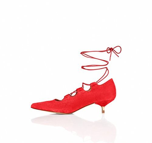 FIND Women's Leda Lace-up Ankle Shoes Red (Red) Vsm2j58t