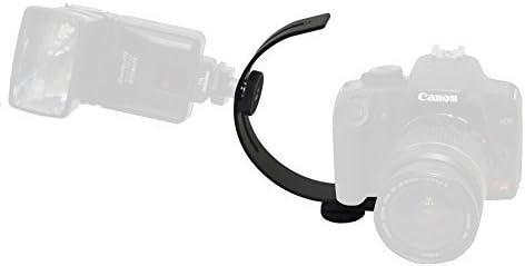 Opteka VLB-1 C Shaped Adjustable DSLR Digital Camera Flash Bracket Accessory Mount Holder Attachment for Nikon D1 D1H D1X D2X D2Xs D2H D2Hs D3 D3s D3x D4 D4s D40 D40x D50 D60 D70 D70s D80 D90 D100 D200 D300 D300s D600 D610 D700 D800 D800e D3000 D3100 D32