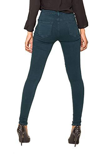 stile Carter pantaloni 42 taglia donna a stretch biker skinny jeans Nina Blu motociclista 34 denim Verde fTw8F