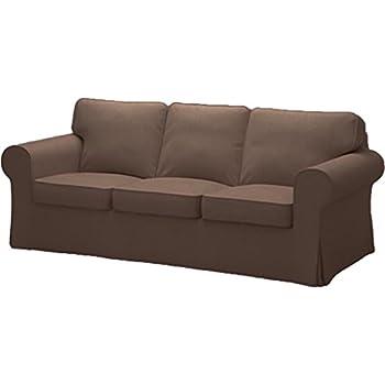 Amazon.com: Ikea Ektorp 3 Seat Sofa Cotton Cover Replacement Is ...