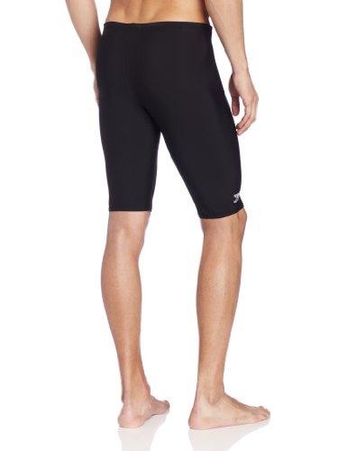 Speedo Men's Race Endurance+ Polyester Solid Jammer Swimsuit