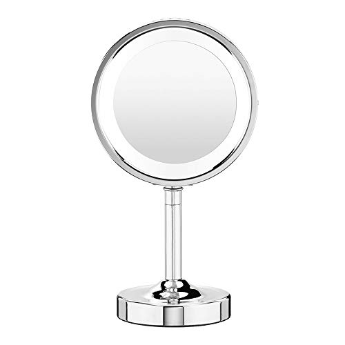Conair Double-Sided Lighted Makeup Mirror - Lighted Makeup Mirror; 1x/5x magnification; Polished -