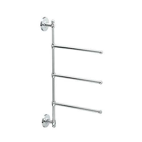 Gatco 1459 3 Arm Wall Mount Towel Bar, Chrome ()