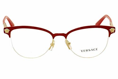 7e129693dadbf Versace VE1235 Eyeglass Frames 1376-53 - Red   Gold VE1235-1376-53 ...