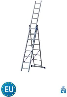 3-piezas de aluminio multifuncional adaptador escalera 3 x 8 peldaños de escaleras con función: Amazon.es: Bricolaje y herramientas